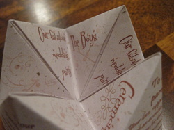 Cootie Catcher DIY template - amber plans a triple-bottom-line wedding